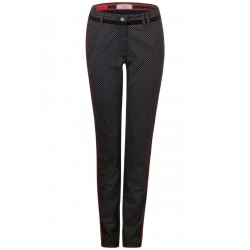 Patterned casual fit pants by Cecil