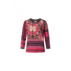 Longsleeve mit Print und Lurex by Rich & Royal