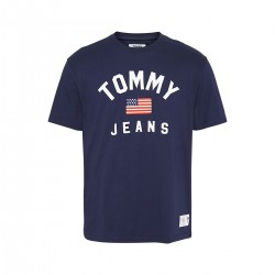 Baumwoll-T-Shirt mit US-Flagge by Tommy Jeans
