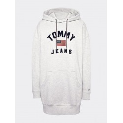 Logo detail hoody dress by Tommy Jeans