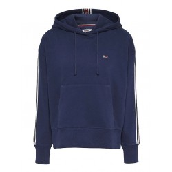 Logo tape drawstring hoody by Tommy Jeans