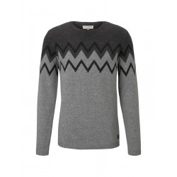 Jumper with graphic knitted pattern by Tom Tailor Denim