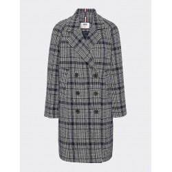 Check wool coat by Tommy Jeans