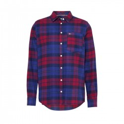 Regular fit cotton flannel check shirt by Tommy Jeans