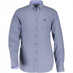 Poplin shirt with a graphic print by State of Art
