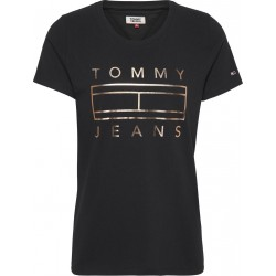 T-shirt mit Metallic-Logo by Tommy Jeans