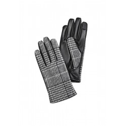 Handschuhe mit Hahnentritt-Muster by s.Oliver Red Label