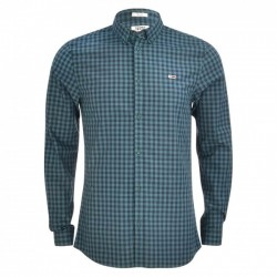 Pure cotton slim fit gingham shirt by Tommy Jeans