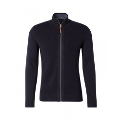 Knitted jacket in modern structure mix by Tom Tailor