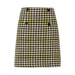 Houndstooth check skirt by More & More