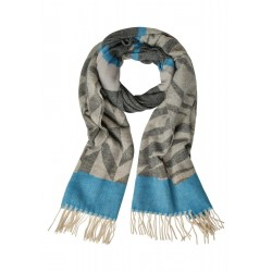 Cosy Graphic Jacquard Scarf by Street One