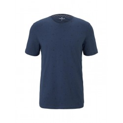T-shirt with all-over print by Tom Tailor