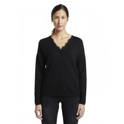 Pullover with lace by Tom Tailor