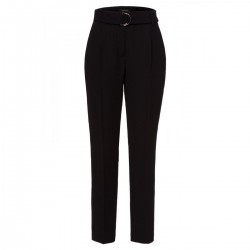 Belted Crepe Pants by More & More
