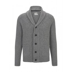 Knitted jacket in structure mix by Tom Tailor
