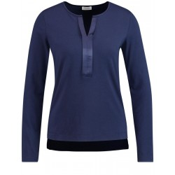 Langarmshirt mit Satinblende by Gerry Weber Collection