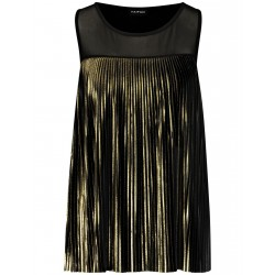 Top with gold plissé by Taifun