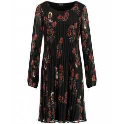 Pleated dress with a paisley print by Taifun