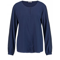Blouse with gemstone appliqués by Gerry Weber Collection