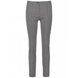 Trousers with a minimalist pattern, Slim Fit by Gerry Weber Edition