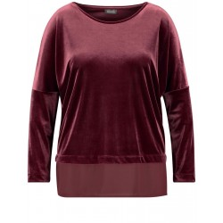 Velvet top with a chiffon panel by Samoon