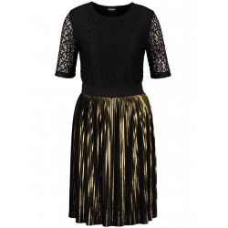 Party dress with lace and gold plissé by Taifun