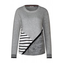 Pullover mit Patchwork by Cecil