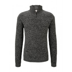 Jumper with half-zip collar by Tom Tailor Denim