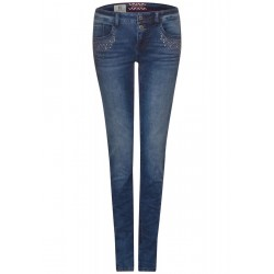 Denim crissi with studs by Street One