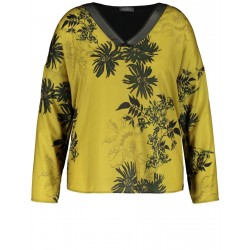 Blouse top in a mix of materials by Samoon