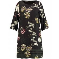 Slightly flared dress with a floral print by Samoon