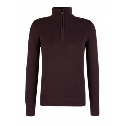Jumper with a ribbed collar and zip by s.Oliver Red Label