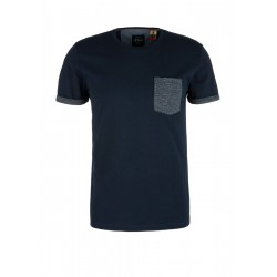 Jersey top with a breast pocket by s.Oliver Red Label