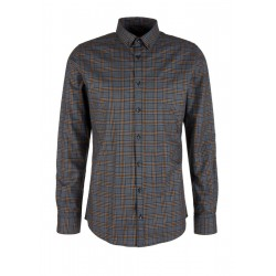 Slim: Kariertes Button Down-Hemd by s.Oliver Black Label