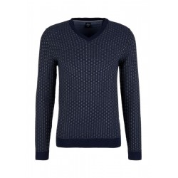 V-neck jumper with a textured pattern by s.Oliver Red Label