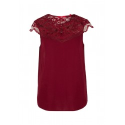 Blouse with a lace yoke by s.Oliver Red Label