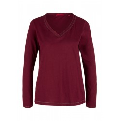 Langarmshirt mit Chiffonblende by s.Oliver Red Label