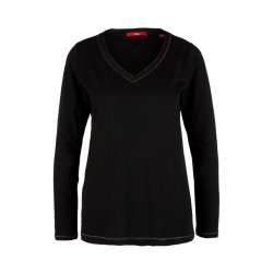Long sleeve top with a chiffon trim by s.Oliver Red Label