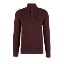 Henley jumper in a textured knit by s.Oliver Red Label