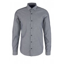 Slim fit: Shirt with a dobby texture by s.Oliver Red Label