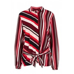 Crepe blouse with a tie detail by s.Oliver Red Label