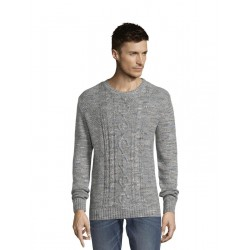 Pullover mit Zopfmuster by Tom Tailor