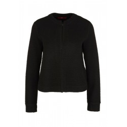 Sweatshirt jacket with a crinkle effect by s.Oliver Red Label