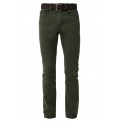 Close Slim: Twillhose mit Gürtel by s.Oliver Red Label