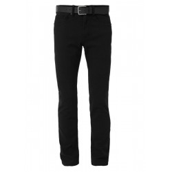 Close Slim: twill trousers with a belt by s.Oliver Red Label