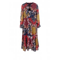 Tunic dress in a patchwork style by s.Oliver Red Label
