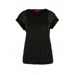 T-shirt with decorative beads by s.Oliver Red Label