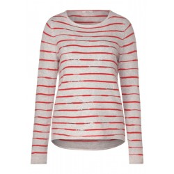 Wavy Striped Pullover by Cecil