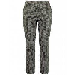 Stretch trousers with a jacquard pattern by Samoon
