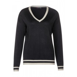 Striped lurex pullover by Street One